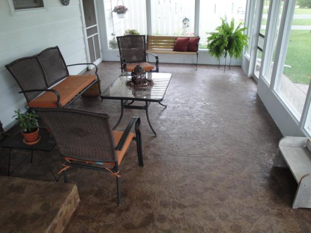 textured contrete floor